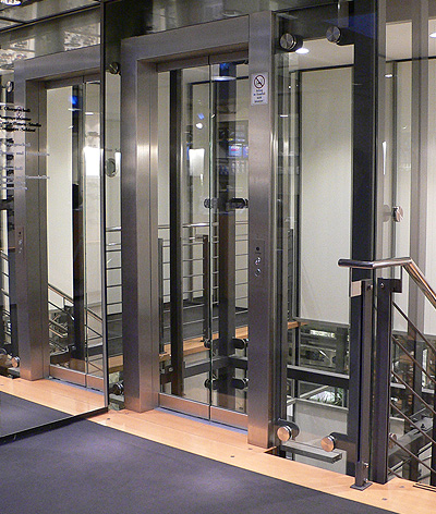 bespoke shop glass lift