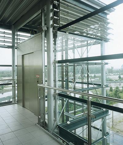 bespoke public glass lift
