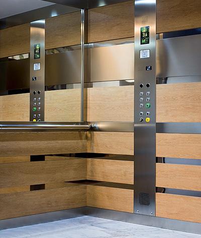 inside public building lift