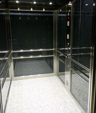 interior public building lift