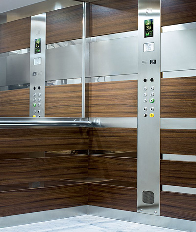 brown interior residential lift