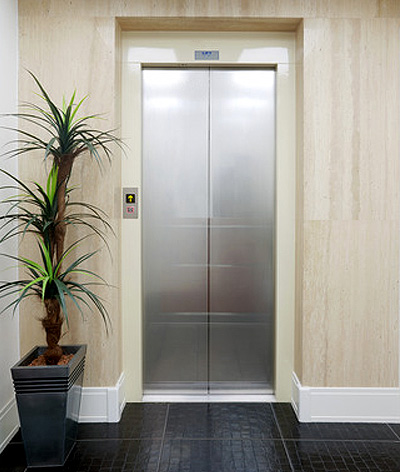 doors outside residential lift