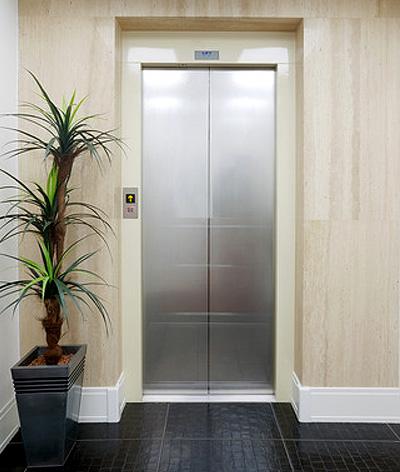 doors outside residential lift