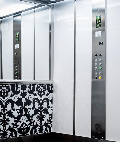 white interior residential lift