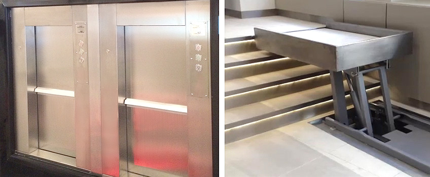 dumb waiter for San Carlo Fumo Restaurant in Manchester