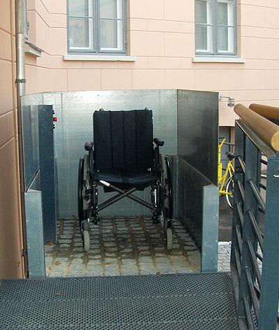 recessed platform bespoke lift