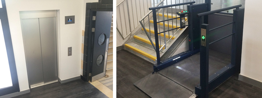 platform lift company in london completes installation for 36 million leisure and housing complex. Black Bedroom Furniture Sets. Home Design Ideas