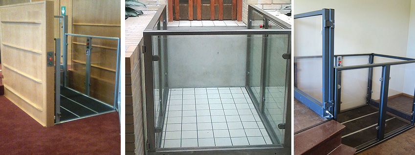 Screw Driven Platform lift for JD Sports in Chester