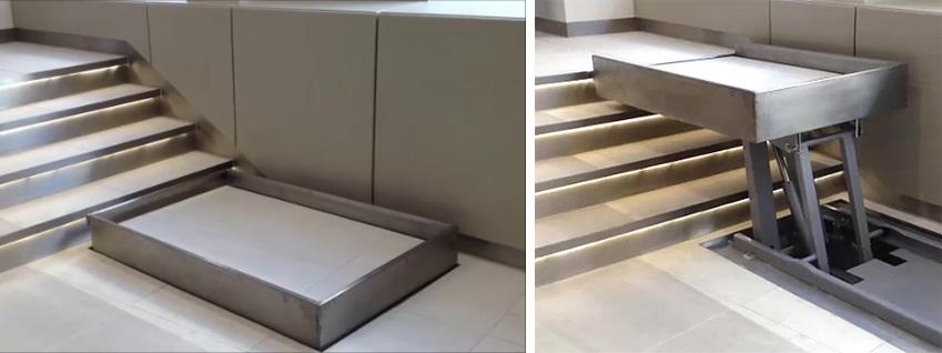 Hidden platform lift